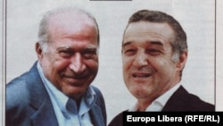 """Cu Gigi Becali: """"Noi sîntem dreapta pînă la capăt"""" conform unui afișa electoral din 2012..."""