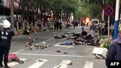 Наслідки вибуху на ринку в місті Урумчі, Китай, 22 травня 2014 року
