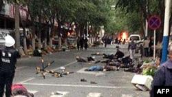 На рынке Урумчи, в котором 22 мая произошли взрывы.