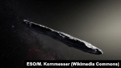 Так видит межзвездный астероид художник Мартин Корнмессер (ESO)