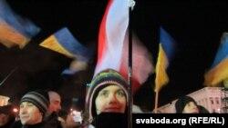 Катерина Ромашкевич на Майдані, 3 грудня 2013 року