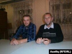 Хәтер көнендә кулга алынган Илдар Гыйлметдинов (с) һәм Фәрит Фәттахов