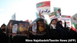 Կառավարության համակիրները հերթական ցույցն են անցկացնում իրանական Մաշհադ քաղաքում, 4-ը հունվարի, 2018 թ․