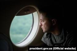 Владимир Зеленский во время поездки в Луганскую область. 8 июля 2020 года