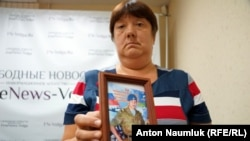 Любов Максимова, мати зниклого на території України російського військовослужбовця