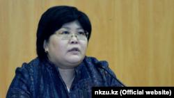 Kazakh Human Rights Commissioner Elvira Azimova (file photo)