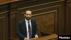 Арарат Мирзоян выступает в парламенте, Ереван, 14 января 2019 г.