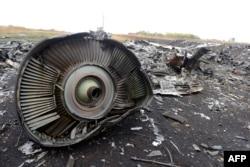 """Обломки """"Боинга"""" в районе села Грабово, 17 июля 2014 года"""