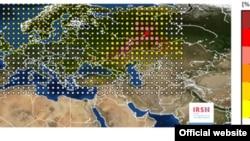 IRSN-нің радиация таралған аймақ туралы инфографикасы. Сурет IRSN-нің ресми сайтынан алынды.