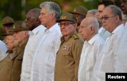 Рауль Кастра і вэтэраны рэвалюцыі 1959 году