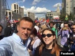 Алексей Навальный и Вера Олейникова