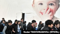 12-классники протестуют, Тбилиси, 9 ноября 2010