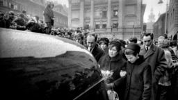 Церемония прощания с Яном Палахом в Праге