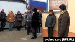 Падчас сходу прадпрымальнікаў наСлонімскім рынку