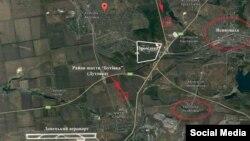 Карта позиций вокруг Авдеевки