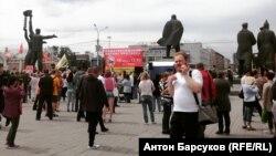 Акция протеста в центре Новосибирска