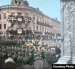 Коронационная процессия Николая II, последнего российского императора. Москва, 1896 год