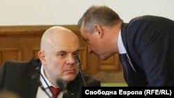 Зам.-главният прокурор Иван Гешев и председателят на ДАНС Димитър Георгиев.