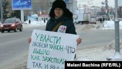 Пикет в поддержку телекомпании ТВ-2 в Томске.