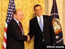 Cu președintele Barack Obama în 2010