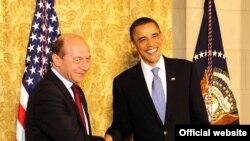 Traian Basescu şi Barack Obama, 8 aprilie 2010