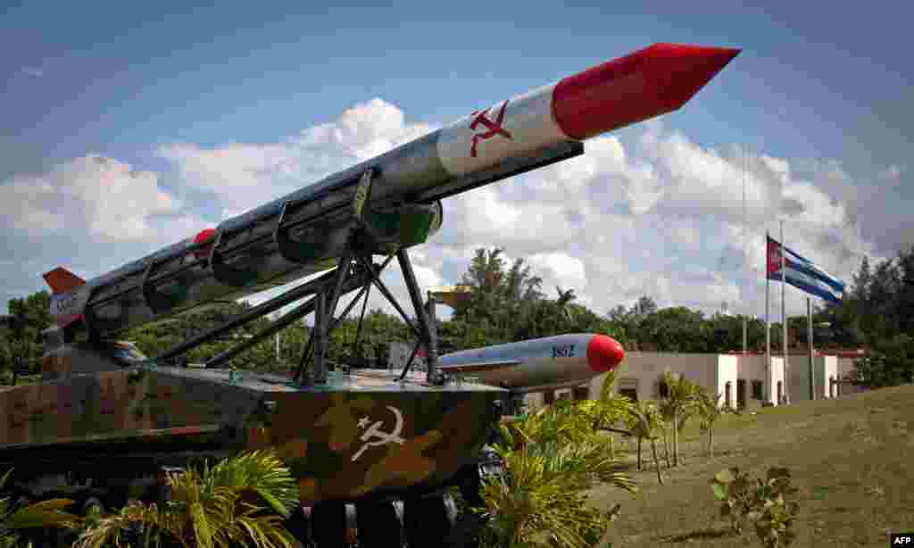 "An ""Moon"" missile deployed during the Cuban missile crisis of 1962 on display at Morro Cabana complex in Havana in 2012."