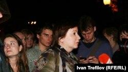 Ольга Романова в лагере оппозиционных активистов в Москве