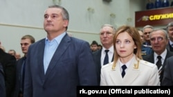 Сергей Аксенов и Наталья Поклонская, 12 января 2016 года