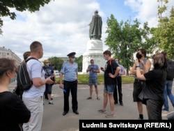 Пикет в Пскове в поддержку Прокопьевой
