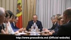 Igor Dodon a prezidat o ședință de lucru cu privire la situația legată de Consiliul Suprem de Securitate, Chișinău 4 septembrie 2017