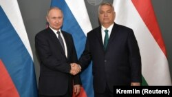 Vladimir Putin și Viktor Orbán, Budapesta, 30 octombrie 2019