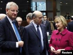 Vesna Pusić na sastanku u Bruxellesu, 23. siječanj 2012.