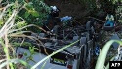 اتوبوس واژگون شده در دره در نزدیکی شهر بالامبان