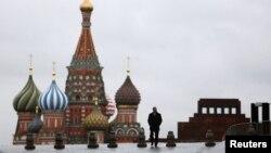 Мавзолей В.И.Ленина на Красной площади в Москве