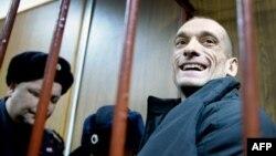Петр Павленский в суде, февраль 2016 года