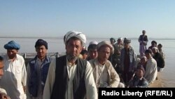 Ethnic Turkmen by the Amu-Darya River in Qarqeen district of Afghanistan's Jowzjan Province (file photo)