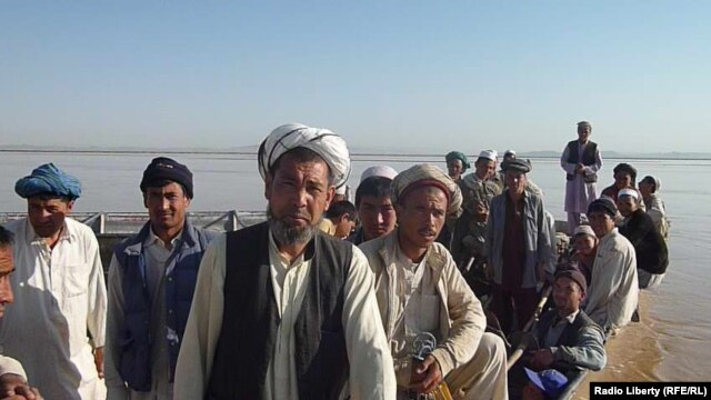 Afghanistan - Residents of Qarqeen district of Jowzjan province complain about harassment from Turkmenistan border guards, May 6, 2014.