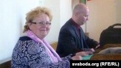 Тамара Шчапёткіна ў залі суду, архіўнае фота
