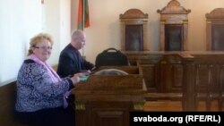 Тамара Шчапёткіна ў залі суду