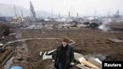 Şira qasabasında yanğın yeri, 2015 senesi aprel 13 künü