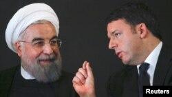 Иранскиот претседател Хасан Рохани и италијанскиот премиер Матео Ренци.