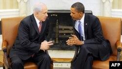 دیدار باراک اوباما، رییس جمهوری آمریکا با بنیامین نتانیاهو، نخست وزیر اسرائیل در کاخ سفید