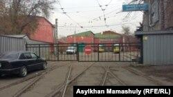 Трамвайное депо в Алматы, работа которого приостановлена. 12 ноября 2015 года.