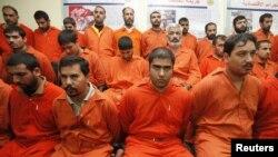 معتقلون من عناصر من تنظيم القاعدة في الأنبار