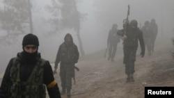 Түркия қолдайтын Сирия ерікті армиясының жасақтары Африн аймағындағы әскери операцияға қатысып жатыр. Сирия, 21 қаңтар 2018 жыл.