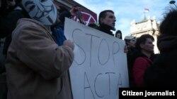 Акция протеста против ACTA (архивное фото)