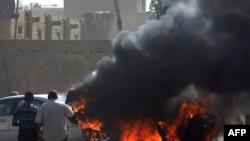 Погодениот француски автомобил во Багдад