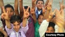 Siriýaly etnik türkmenleriň çagalary
