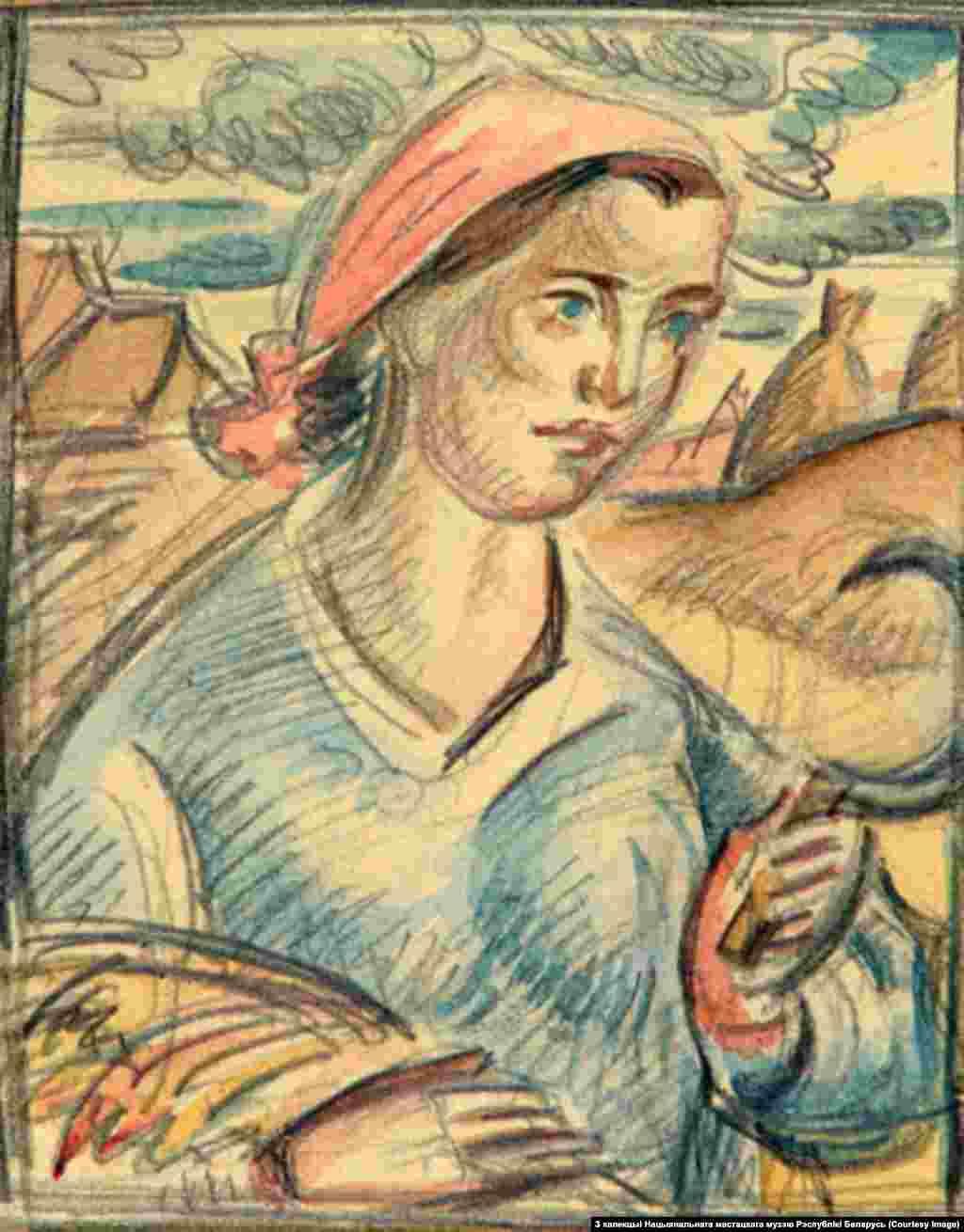 Міхась Сеўрук.Жаночы партрэт. 1930-я