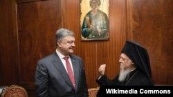 Петр Порошенко и Вселенский партриарх Варфоломей (дата встречи не указана)